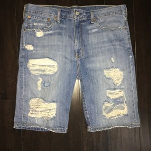 Levi's 511 Slim Distressed Shorts-Size 36